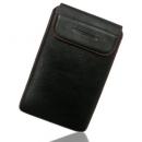 Θήκη Δερμάτινη Aniline Samsung Galaxy Tab Μαύρο-Κόκκινη Ραφή