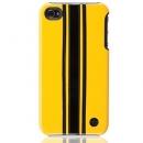 Θήκη Δερμάτινη Trexta Apple iPhone 4 Racing Μαύρο σε Κίτρινο