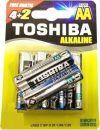 ΝΕΑ ΕΝΙΣΧΥΜΕΝΗ ΑΛΚΑΛΙΚΗ ΜΠΑΤΑΡΙΑ TOSHIBA ALKALINE AA (4+2 ΔΩΡΟ)