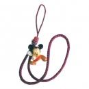 Charm Strap Mickey με Κόκκινο Κορδόνι