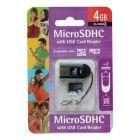 ΚΑΡΤΑ ΜΝΗΜΗΣ Micro SD Integral 4Gb-USB Reader
