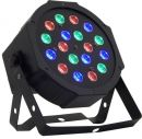 OEM Ημί-Επαγγελματικός Υψηλής Δύναμης Προβολέας RGB και Φωτορυθμικό Disco με 18 LED Φώτα 18W και Ασύ