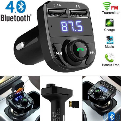 OEM new CAR FM TRANSMITTER Wireless Bluetooth Handsfree Car Kits FM Transmitter MP3 Player USB Charger 3.1A με 2 θύρες USB