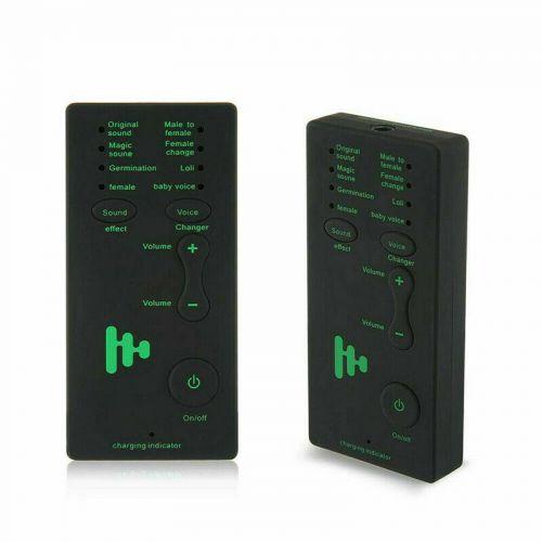 Επαναφορτιζόμενη Συσκευή αλλαγής φωνής για τηλέφωνα και μικρόφωνα Voice Changer Microphone Disguiser Phone Microphone Voice Changer Adapter VR1021