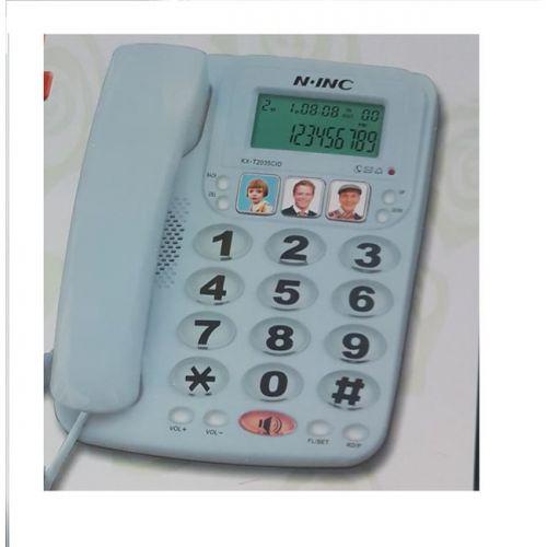 Τηλέφωνο επιτραπέζιο με μεγάλα πλήκτρα για ηλικιωμένους - παιδιά - ΑΜΕΑ με Φωτογραφικά Πλήκτρα