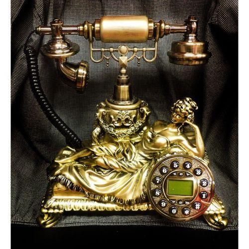 OEM Σταθερό Τηλέφωνο Αντίκα - Ρετρό παλαιού τύπου με αναγνωριση κλήσης - Χρυσή Βασίλισσα Retro Vintage