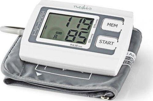 NEDIS BLPR110WT  Ηλεκτρονικό πιεσόμετρο μπράτσου με οθόνη LCD & μνήμη για 2x60 μετρήσεις - Ανίχνευση αρρυθμίας