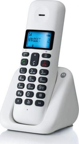 Ασύρματο Τηλέφωνο με Ανοικτή Ακρόαση και Ελληνικό Menu Motorola T301 White