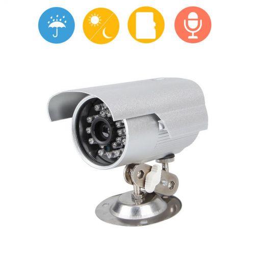 Αδιάβροχη Αυτόνομη κάμερα με ενσωματωμένο καταγραφικό Εξωτερικού και Εσωτερικού χώρου Reliable TF Card Slot CCTV DVR Infrared Dome Night Vision Home Security Camera