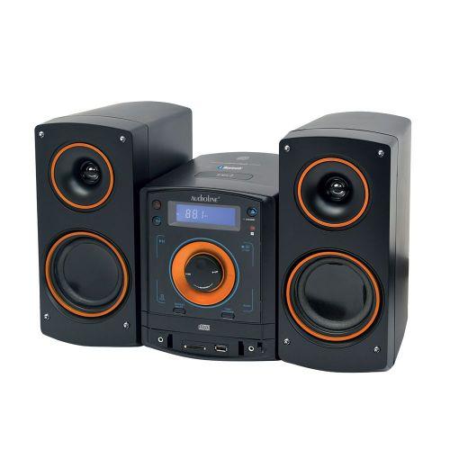 Micro HiFi cd mp3 usb με bluetooth NFC σε μαύρο-πορτοκαλί χρώμα. CD-50/ 07309