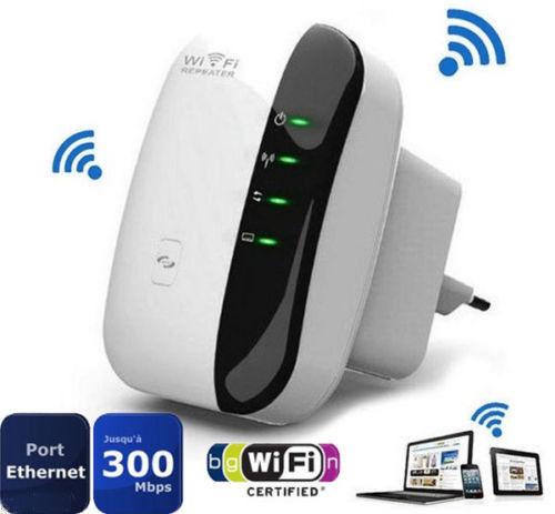 Ενισχυτης WiFi Repeater Πρίζας 300Mbps 802.11 Wifi Repeater Wireless-N AP Range Signal Extender Booster