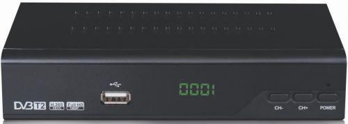 Επίγειος Δέκτης DigitalBox HDT-1000 T2 H.265 με Χειριστήριο Learning MPEG4 T2
