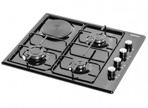 ΕΝΤΟΙΧΙΖΩΜΕΝΗ ΕΣΤΙΑ ITIMAT I-15MHP 3+1 BUILT IN BLACK ENAMEL COOKER