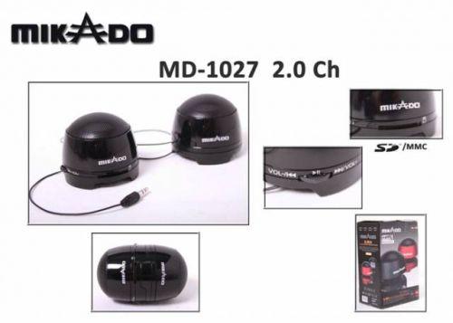 MINI SPEAKER MIKADO MD-1027 ΜΕ ΥΠΟΔΟΧΗ SD-MMC CARD ΚΑΙ ΥΠΟΣΤΗΡΙΞΗ MP3 & WMA