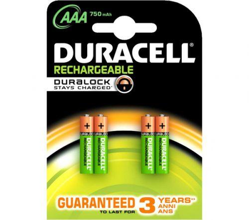 Επαναφορτιζόμενες Μπαταρίες Duracell Rechargeable AAA 750 mAh Micro HR03 / DC2400 Τεχνολογίας Duralock που κρατάει την φόρτιση - Guaranteed to last for 3 years anni ans