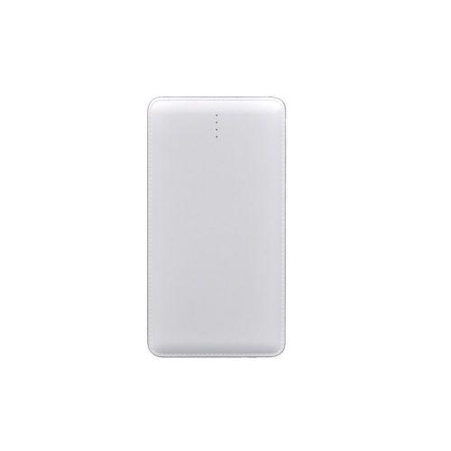 Powerbank δερματίνη 10000MAH USB με Αντάπτορα/Adaptor για IPhone Λευκό P9-F