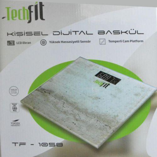 Ηλεκτρονική Ζυγαριά Σώματος LCD 180Kg με ένδειξη κατάστασης μπαταρίας και θερμοκρασίας χώρου TECHFIT TF-1059
