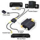 Μετατροπέας Ψηφιακού Coaxial to Optical 2-Way Toslink SPDIF Digital Audio Converter Adapter - 3 In 1 Toslink SPDIF Switch Digital 2-Way Audio Converter Aluminum Alloy Optical