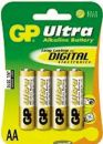 ΑΛΚΑΛΙΚΗ ΜΠΑΤΑΡΙΑ GP ULTRA ALKALINE BATTERY LR06 AA BLISTER 4