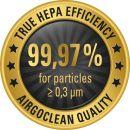 Καθαριστής αέρος airgoclean 10E Trotec και Ιονιστής με φίλτρο HEPA - Καθαριστής αέρα μοντέρνου σχεδιασμού Δύο βαθμίδων σύστημα φιλτραρίσματος Ανθεκτικό προ-φίλτρο συνθετικών ινών Dacron HEPA (Προστασία απο Αλεργίες, Ιούς, Βακτήρια)
