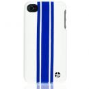 Θήκη Δερμάτινη Trexta Apple iPhone 4 Racing Μπλε σε Λευκό