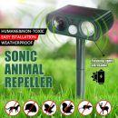 Ηλεκτρονικός Υπερηχητικός απωθητής Πουλιών ζώων και Πτηνών Ηλιακής λειτουργίας Ultrasonic solar Pest-Animal Repeller
