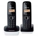 Ασύρματο Τηλέφωνο Panasonic KX-TG1612 Duo Μαύρο-Λευκό