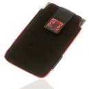 Θήκη Κάθετη Body Glove Nubuck Μαύρο-Κόκκινο