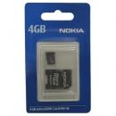 Κάρτα μνήμης Micro SD Nokia MU-41 4Gb + 1 ADP