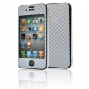 Screen Protector Gecko Apple iPhone 4 Carbon Ασημί Full Pack