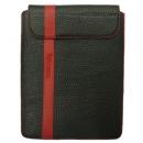 Θήκη Δερμάτινη Aniline Apple iPad Μαύρο-Κόκκινη Ραφή