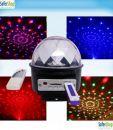 Music Player disco ball με ενσωματωμένο ηχείο Φωτορυθμική μπάλα disco led με ήχο για disco πάρτυ + αναπαραγωγή MP3 από θύρες USB - SD + τηλεχειριστήριο + Demo USB Stick