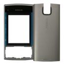 Γνήσια Πρόσοψη Nokia X3-00 Ασημί-Μπλε