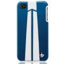 Θήκη Δερμάτινη Trexta Apple iPhone 4 Autobahn Λευκό σε Μπλε